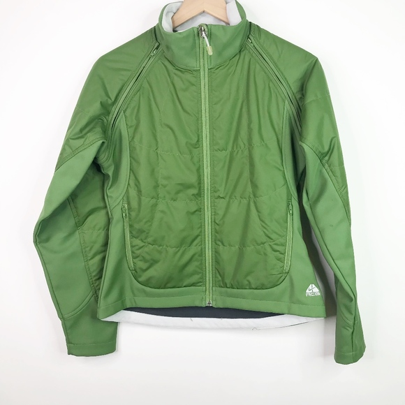 Nike ACG green removable sleeve jacket size small